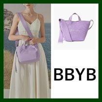 BBYB Casual Style Canvas Street Style 2WAY Plain Totes