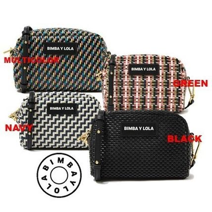 Zigzag Casual Style Shoulder Bags