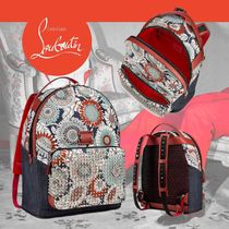 Christian Louboutin Flower Patterns Unisex Backpacks