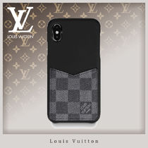 Louis Vuitton DAMIER GRAPHITE Unisex Street Style Leather Smart Phone Cases