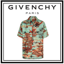GIVENCHY Button-down Silk Street Style Other Animal Patterns