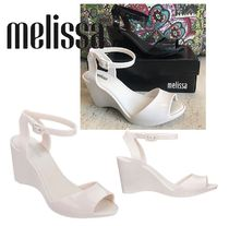 Melissa Collaboration PVC Clothing Elegant Style Wedge Pumps & Mules