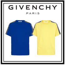 GIVENCHY Pullovers Blended Fabrics Henry Neck Street Style Plain
