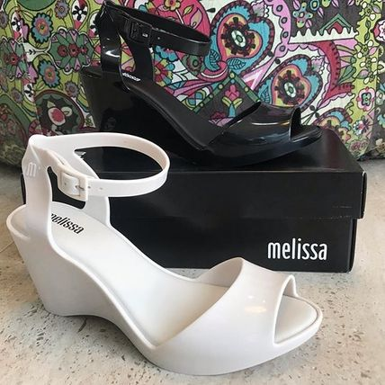 Melissa PVC Clothing Elegant Style Wedge Pumps & Mules