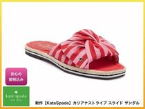 kate spade new york Stripes Open Toe Casual Style Footbed Sandals Flat Sandals