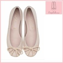 Pretty Ballerinas Round Toe Plain Leather Party Style Flats