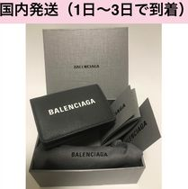 BALENCIAGA EVERYDAY TOTE Unisex Calfskin Street Style Plain Folding Wallets