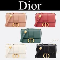 Christian Dior Casual Style Calfskin Blended Fabrics Street Style 2WAY