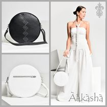 Aakasha Plain Leather Handmade Shoulder Bags