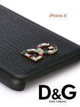 Dolce & Gabbana Street Style Plain Leather Smart Phone Cases