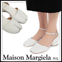 Maison Martin Margiela Round Toe Plain Leather Elegant Style
