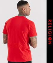 Religion Crew Neck Street Style Short Sleeves Crew Neck T-Shirts