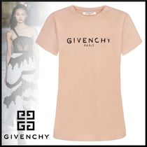 GIVENCHY Crew Neck Street Style Plain Cotton Short Sleeves T-Shirts