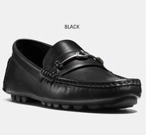 Coach CROSBY Driving Shoes Chain Plain Leather Loafers & Slip-ons