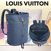 Louis Vuitton MONOGRAM Monogram Blended Fabrics A4 2WAY Bi-color Backpacks