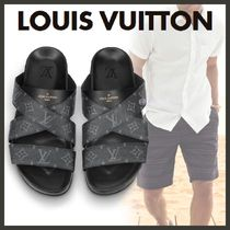 Louis Vuitton MONOGRAM Unisex Blended Fabrics Street Style Sandals