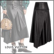 Louis Vuitton Plain Long Maxi Skirts