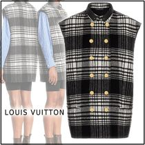 Louis Vuitton Other Check Patterns Casual Style Wool Oversized Coats