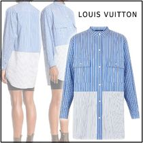 Louis Vuitton Stripes Casual Style Long Sleeves Cotton Oversized