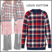 Louis Vuitton Other Check Patterns Casual Style Wool Long Sleeves