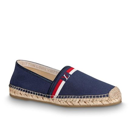 Louis Vuitton Loafers & Slip-ons Plain Toe Blended Fabrics Bi-color Plain Loafers & Slip-ons 2