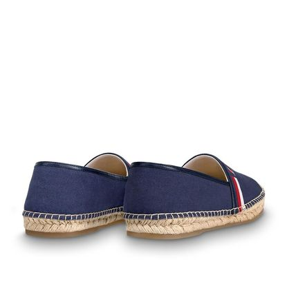 Louis Vuitton Loafers & Slip-ons Plain Toe Blended Fabrics Bi-color Plain Loafers & Slip-ons 3