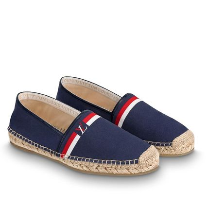 Louis Vuitton Loafers & Slip-ons Plain Toe Blended Fabrics Bi-color Plain Loafers & Slip-ons 4