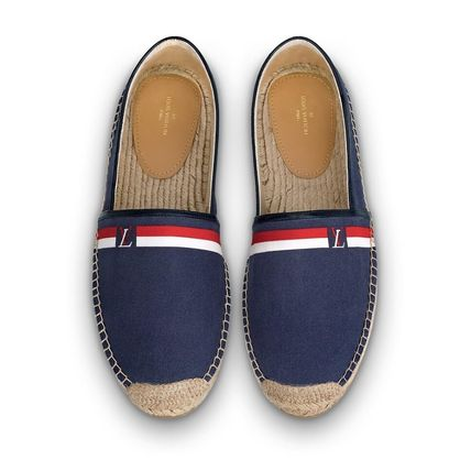 Louis Vuitton Loafers & Slip-ons Plain Toe Blended Fabrics Bi-color Plain Loafers & Slip-ons 5