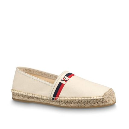 Louis Vuitton Loafers & Slip-ons Plain Toe Blended Fabrics Bi-color Plain Loafers & Slip-ons 6