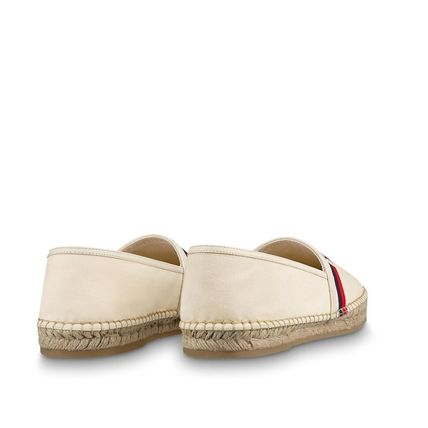 Louis Vuitton Loafers & Slip-ons Plain Toe Blended Fabrics Bi-color Plain Loafers & Slip-ons 7