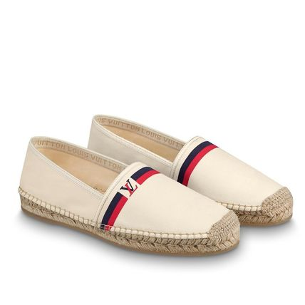 Louis Vuitton Loafers & Slip-ons Plain Toe Blended Fabrics Bi-color Plain Loafers & Slip-ons 8