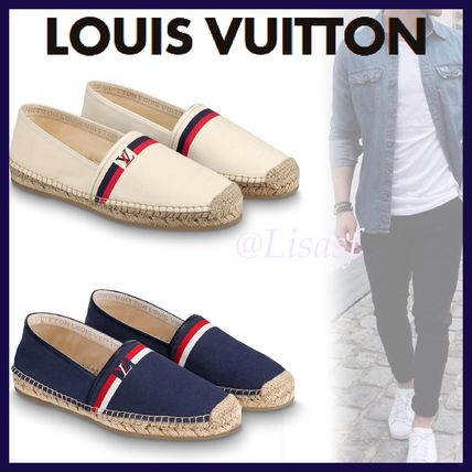 Louis Vuitton Loafers & Slip-ons Plain Toe Blended Fabrics Bi-color Plain Loafers & Slip-ons