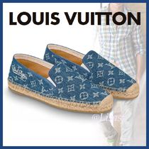 Louis Vuitton MONOGRAM Plain Toe Blended Fabrics Bi-color Plain Loafers & Slip-ons
