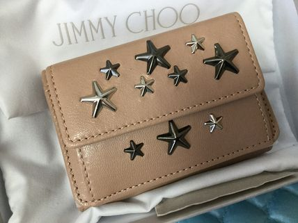Star Unisex Calfskin Studded Leather With Jewels