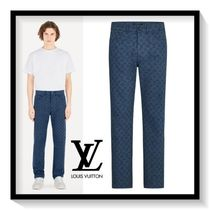 Louis Vuitton Monogram Denim Street Style Skinny Fit Jeans & Denim