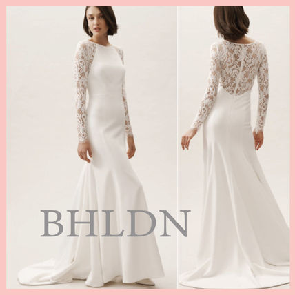Bhldn 2019 Ss Crew Neck Flower Patterns Tight Long Sleeves Long Lace Style 48292056