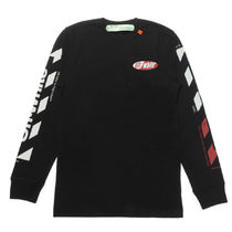 Off-White Crew Neck Long Sleeves Cotton Long Sleeve T-Shirts