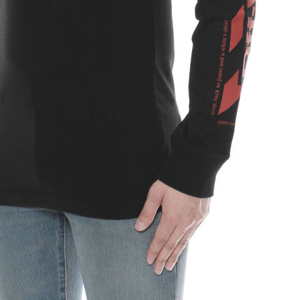 Off-White Long Sleeve Crew Neck Long Sleeves Cotton Long Sleeve T-Shirts 6