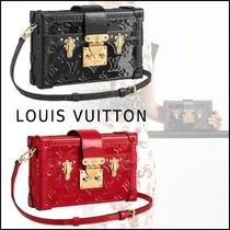 Louis Vuitton PETITE MALLE Monogram Leather Party Style Bold Shoulder Bags