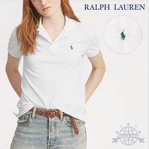 Ralph Lauren Plain Cotton Medium Short Sleeves Office Style Polo Shirts