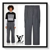 Louis Vuitton Blended Fabrics Plain Cotton Cargo Pants