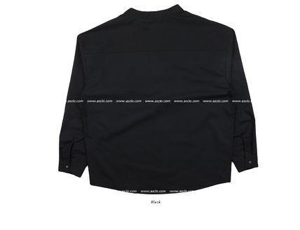 ASCLO Shirts Street Style Collaboration Long Sleeves Plain Cotton Shirts 14