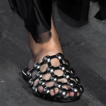 Alexander Wang Round Toe Studded Leather Sandals Sandal