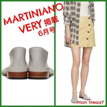 MARTINIANO Round Toe Casual Style Plain Leather Flats