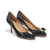 Salvatore Ferragamo Plain Leather High Heel Pumps & Mules