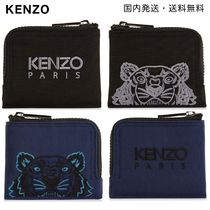KENZO Street Style Other Animal Patterns Leather Folding Wallets
