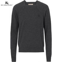 Burberry Wool Blended Fabrics Long Sleeves Plain Knits & Sweaters