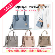 Michael Kors MERCER 2WAY Plain PVC Clothing Elegant Style Shoulder Bags