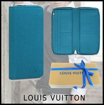 Louis Vuitton 2019-20AW ZIPPY VERTICAL WALLET turquoise long wallets