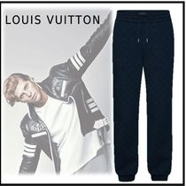 Louis Vuitton 2019-20AW LV STAPLES EDITION MONOGRAM TRACK PANTS blackpants